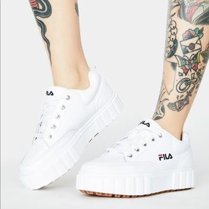 Fila Sandblast Low whote Shoes Size 7.5 US